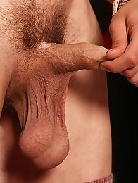 Horny gay guy shows monster cock and masturbate