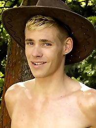 Outdoors: Blond-Boy Blake Hanson Gets His Tight Ass Smashed Outdoors By Orlando Whites Pole!